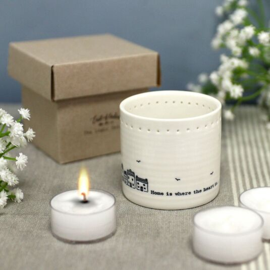 'Home is where' Tea Light Holder
