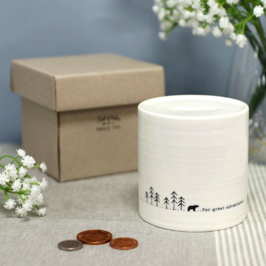 'Great Adventures' Porcelain Money Pot