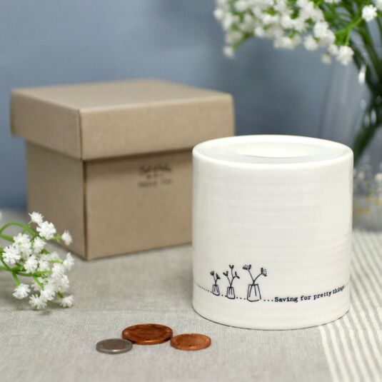 'Pretty things' Porcelain Money Pot