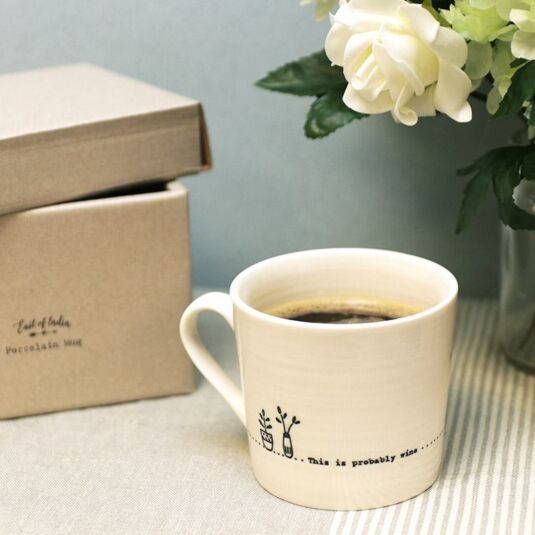 Probably Wine 'Wobbly' Porcelain Boxed Mug