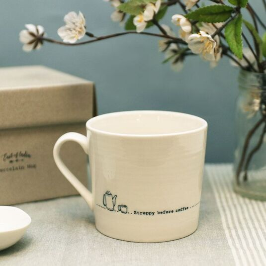 'Stroppy Before Coffee' Wobbly Porcelain Boxed Mug