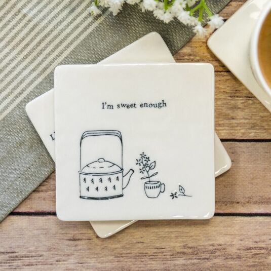 'I'm Sweet Enough' Square Coaster