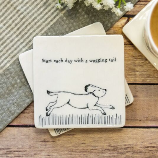 'Wagging Tail' Square Coaster