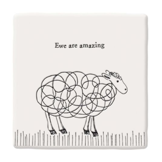 'Ewe Are Amazing' Square Coaster