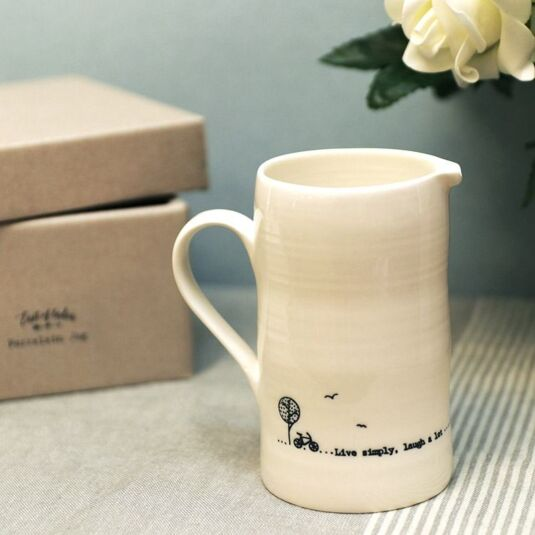 'Live Simply, Laugh a Lot' Large Jug