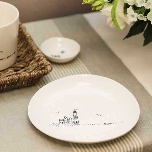 'Enjoy' Wobbly Porcelain Plate
