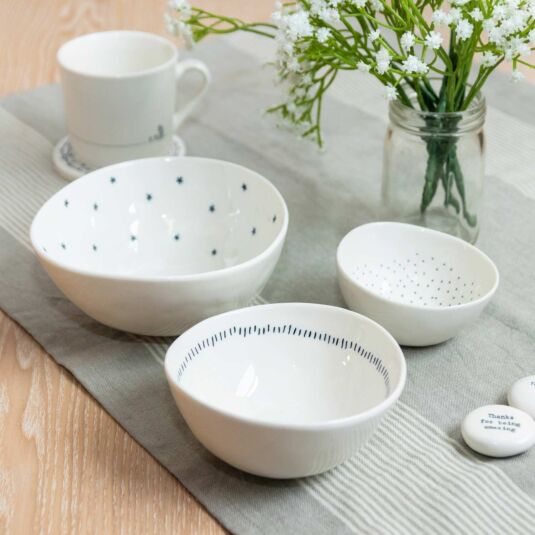 'Stars, Dashes & Dots' Set of 3 Boxed Bowls
