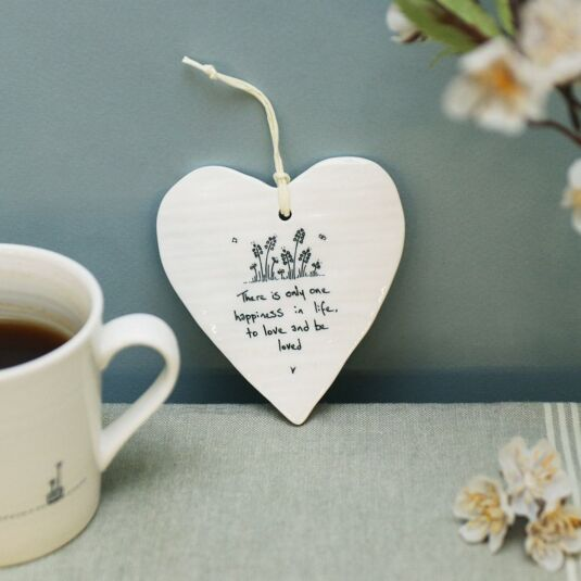 'Love and Be Loved' Porcelain Heart