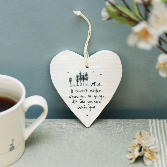 'Beside You' Porcelain Heart
