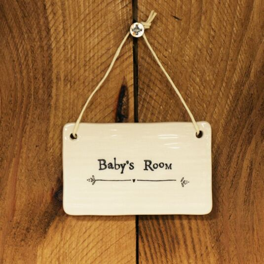 'Baby's Room' Porcelain Sign