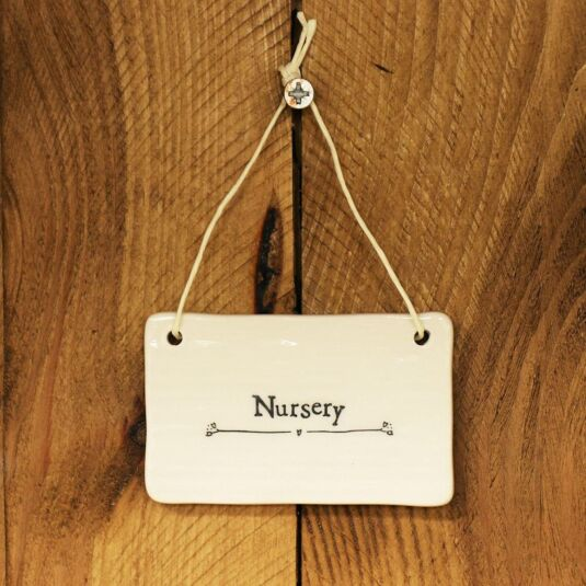'Nursery' Porcelain Sign