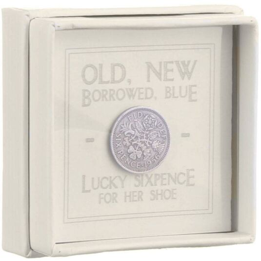Lucky Sixpence For Her Shoe Small Box