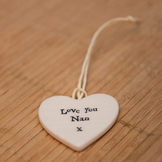 East Of India Love You Nan Porcelain Heart Temptation Gifts