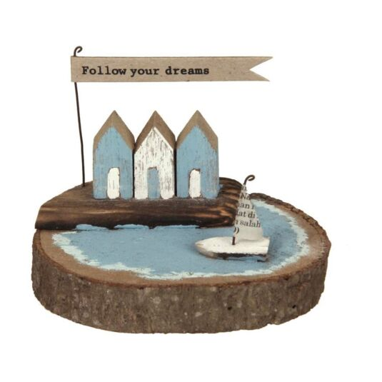 Quayside Follow Your Dreams Diorama Wooden Ornament