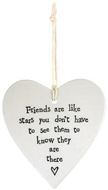 Friends Are Like Stars... Porcelain Heart