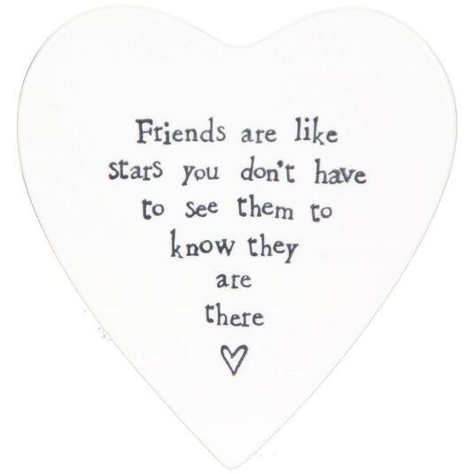 Friends Are Like Stars Porcelain Coaster