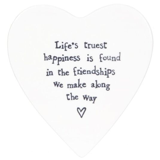 Life's True Happiness Porcelain Coaster