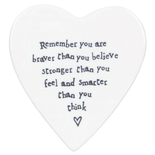 Braver Than You Believe Porcelain Coaster