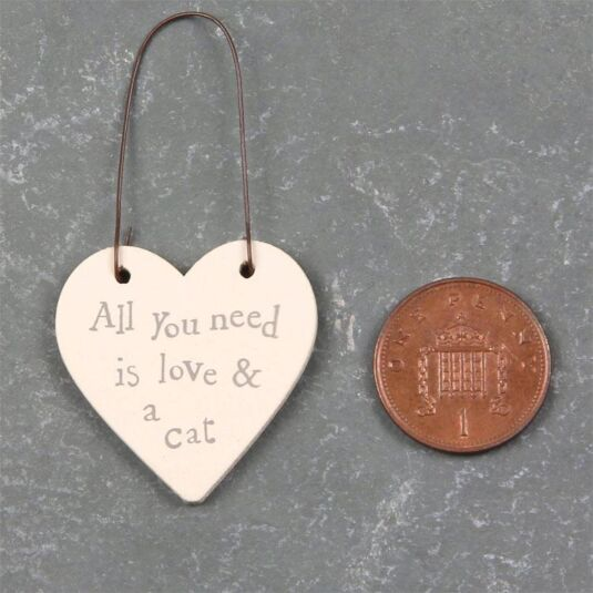 Love And Cat - 3cm Little Heart on Wire