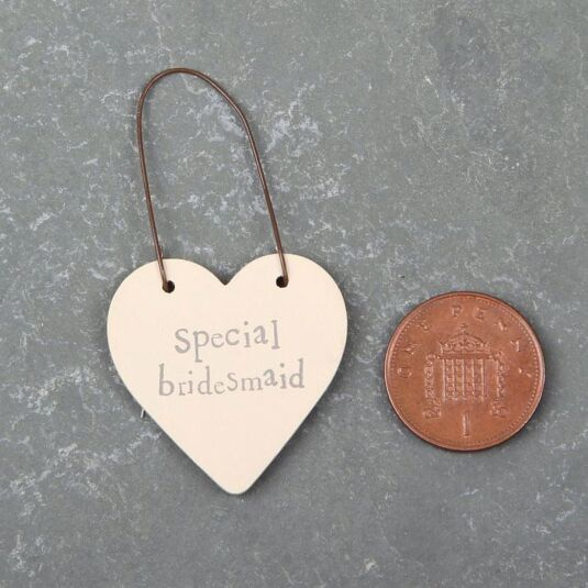 Special Bridesmaid 3cm Little Heart on Wire