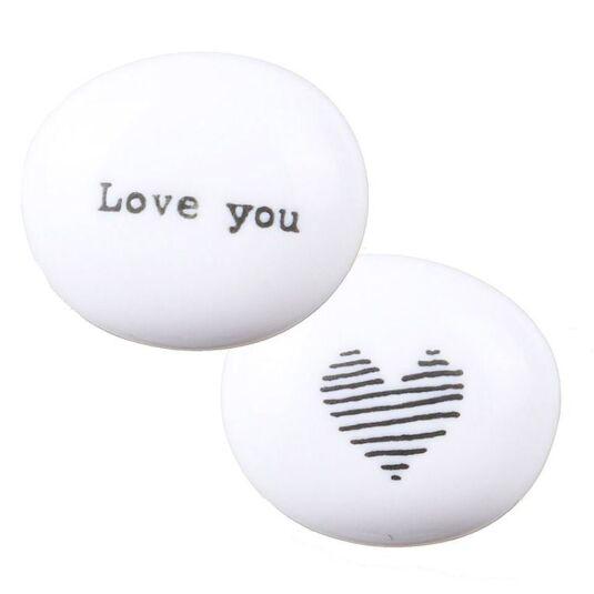 'Love You' Sentimental Pebble