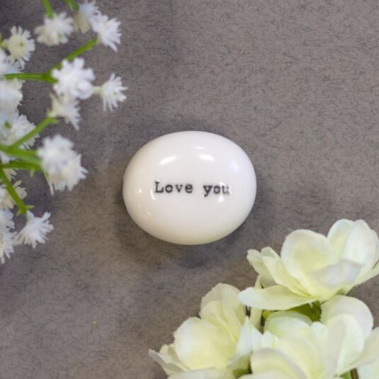 'Love You' Sentimental Pebble