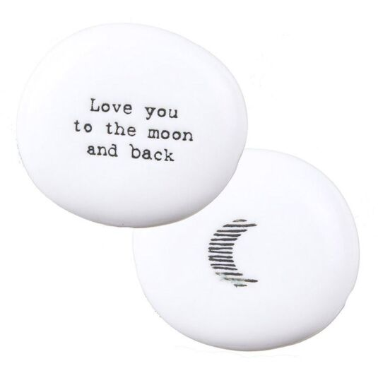 'To The Moon & Back' Sentimental Pebble