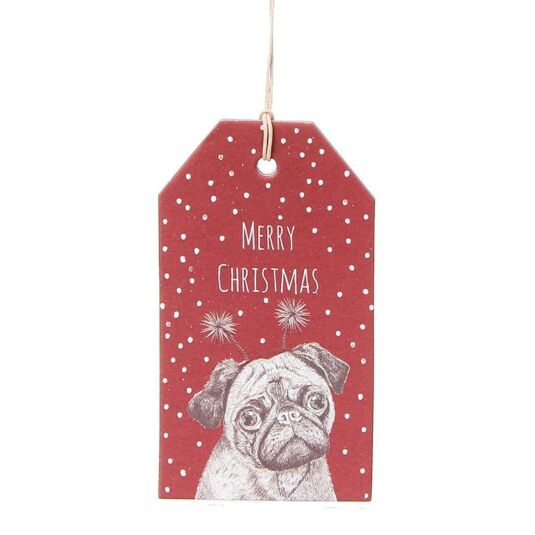 Christmas Pug Gift Tags