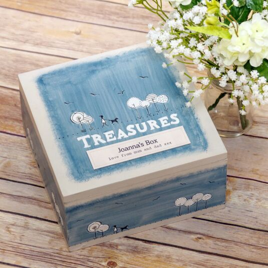 Personalised 'Treasures' Keepsake Box