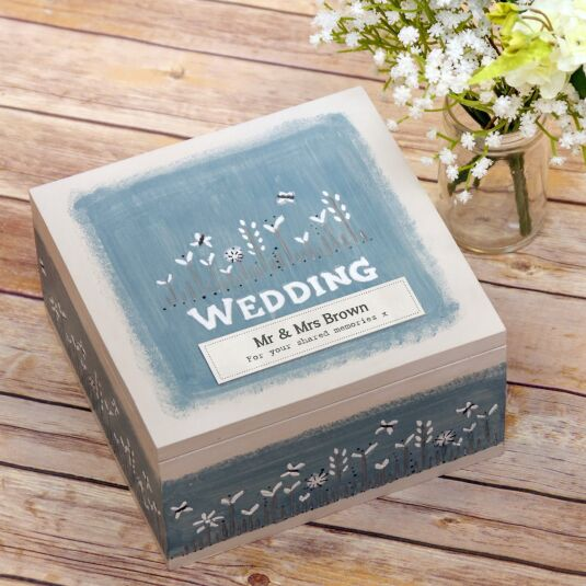 Personalised 'Wedding' Keepsake Box