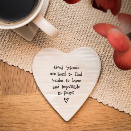 Good Friends Are Hard to Find Porcelain Coaster