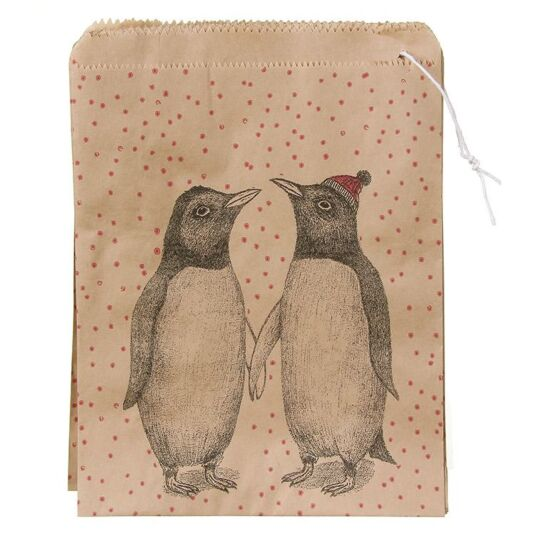 Pack Of 50 Christmas Penguins Strung Bags