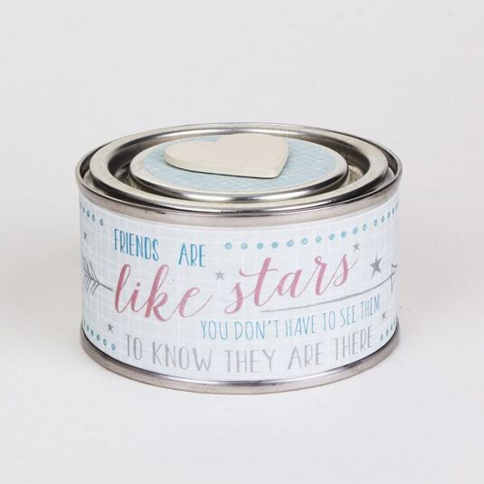 Friends Like Stars Scented Tin Candle