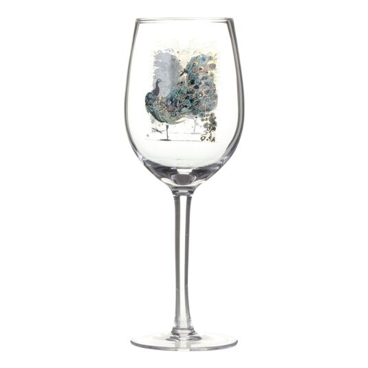 Bug Art Peacock Wine Glass