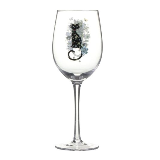 Bug Art Cat Wine Glass