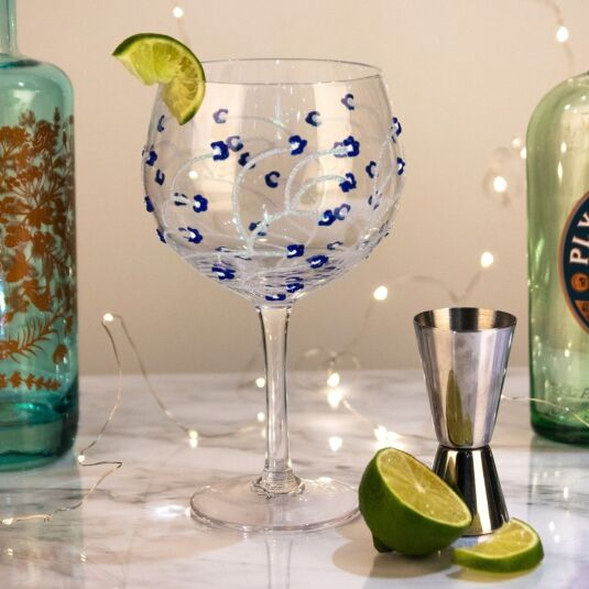 'Blue Flower' Gin Balloon