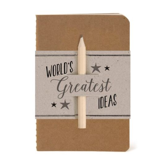 'World's Greatest Ideas' Notebook & Pencil