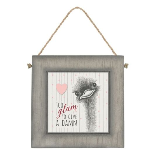 'Too Glam To Give A Damn' Animal Sign