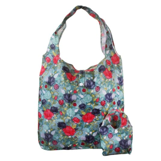 Eco Chic Climbing Rose Foldaway Shopper
