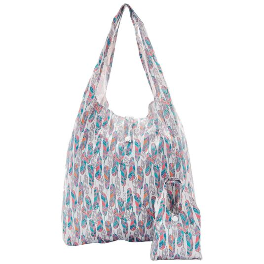 Eco Chic White Feather Foldaway Shopper
