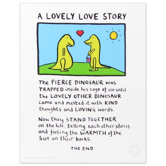 Lovely Love Story Limited Edition Large Poster Print