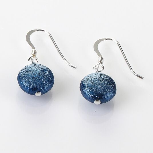 Denim Moons Earrings