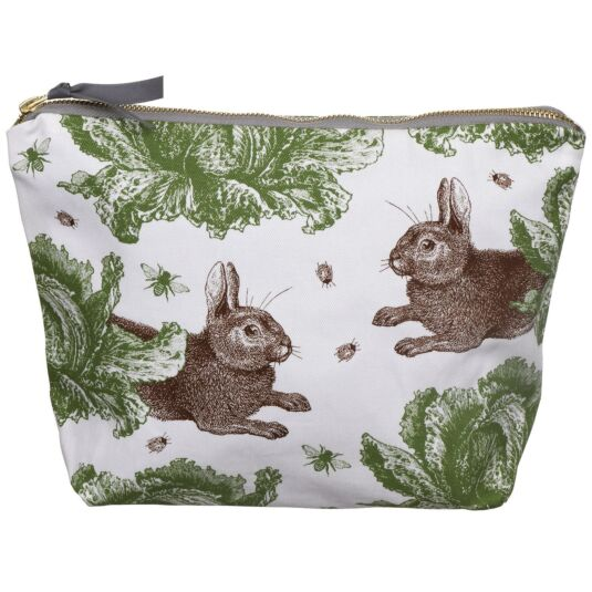 Rabbit & Cabbage Large Cosmetic Bag