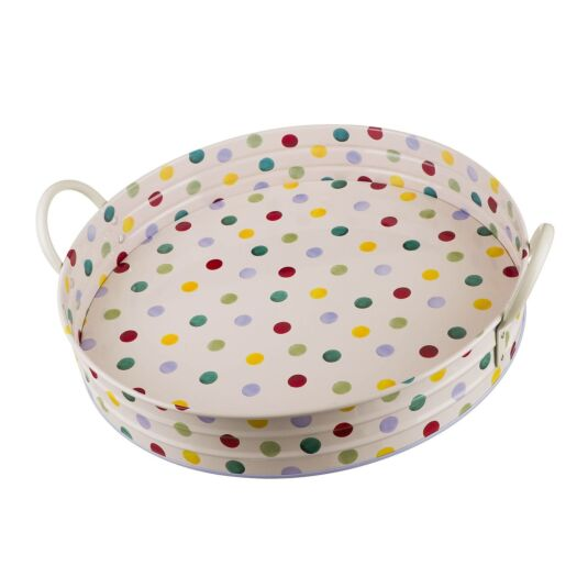 Polka Dot Large Handled Tray