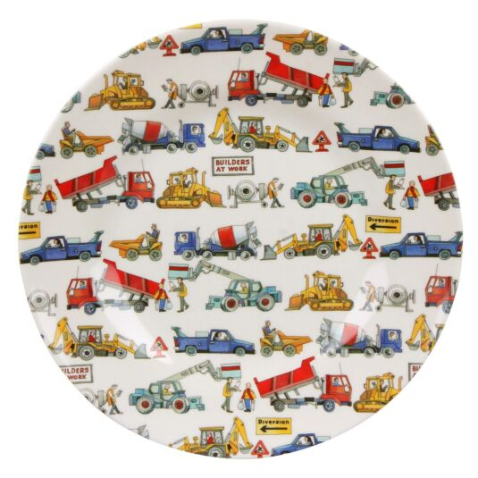 Builders at Work Two Tone Melamine Plate