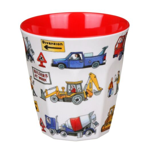 Builders at Work Two Tone Melamine Beaker