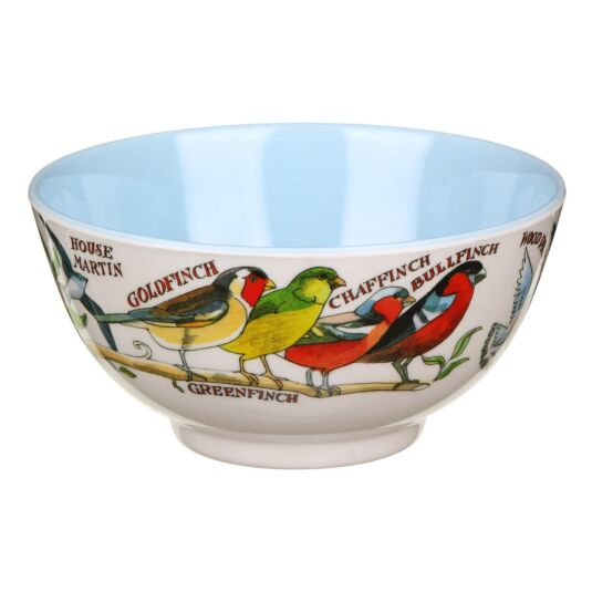 Garden Birds Two Tone Melamine Bowl