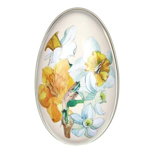 Medium 'Daffodils' Egg-Shaped Tin