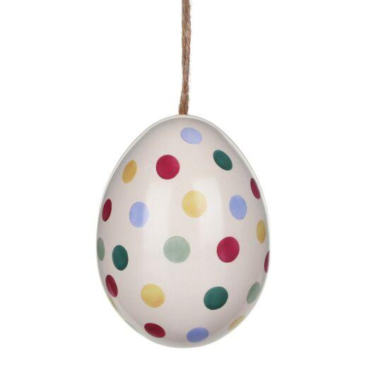 'Polka Dots' Mini Egg-Shaped Tin