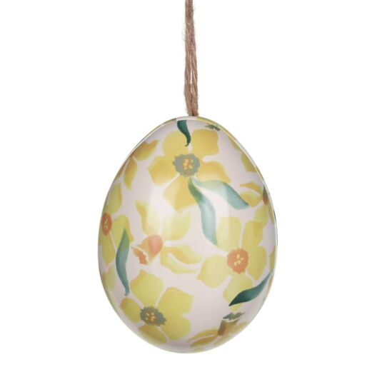 'Daffodils' Mini Egg-Shaped Tin